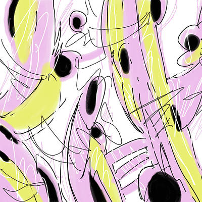 Digital Art - Hot Pink Abstract by Peggy Novak