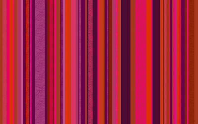 Digital Art - Hot Pink And Orange Stripes - Two by Val Arie