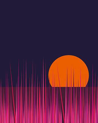 Digital Art - Hot Pink Grass by Val Arie