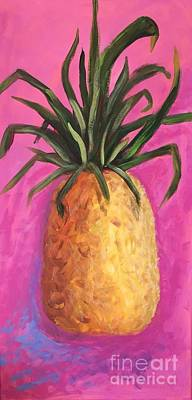 Painting - Hot Pink Pineapple by Patricia Piffath