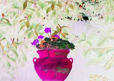 Photograph - Hot Pink Pot by Ellen Barron O'Reilly