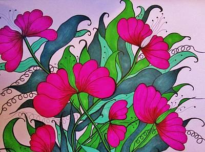 Drawing - Hot Pink  by Rosita Larsson