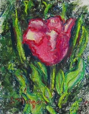 Painting - Hot Pink Tulip by Laurie Morgan