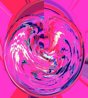 Digital Art - Hot Pink'ed by Alli Cullimore