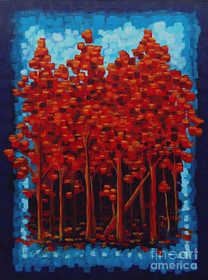 Painting - Hot Reds by Holly Carmichael