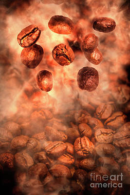 Photograph - Hot Roasted Falling Coffee Beans by Jorgo Photography - Wall Art Gallery