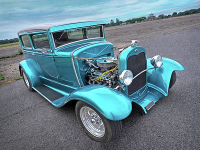 Old Hotrod Photograph - Hot Rod Blues - 1930 Ford Coupe by Gill Billington