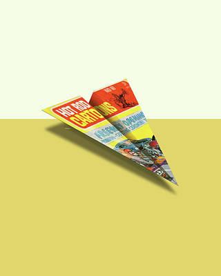 Hot Rod Cartoons 1969 03 Mad Paper Airplanes Art Print