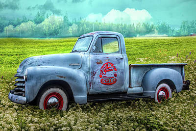Photograph - Hot Rod Chevrolet Pickup Truck In Hdr Detail by Debra and Dave Vanderlaan