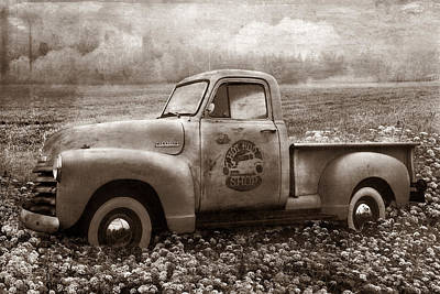 Photograph - Hot Rod Chevrolet Pickup Truck In Sepia by Debra and Dave Vanderlaan