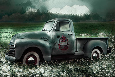 Photograph - Hot Rod Chevrolet Pickup Truck In The Green by Debra and Dave Vanderlaan