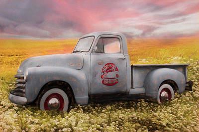Photograph - Hot Rod Chevrolet Pickup Truck Summer Sunrise by Debra and Dave Vanderlaan