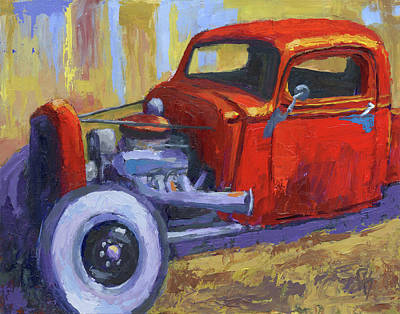 Painting - Hot Rod Chevy Truck by David King