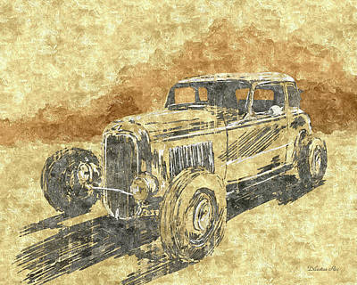 Ford Digital Art - Hot Rod Coupe by Dilectus Rex