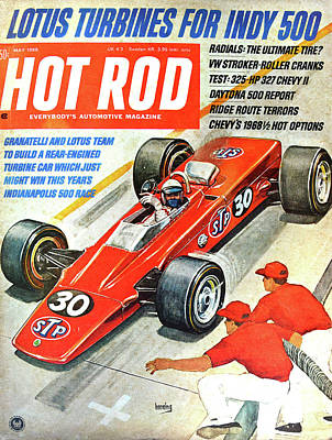 Photograph - Hot Rod Cover 1968 by David Lee Thompson
