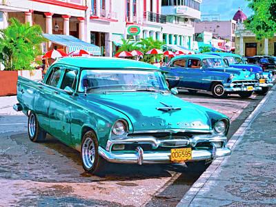 Cuba Mixed Media - Hot Rod by Dominic Piperata