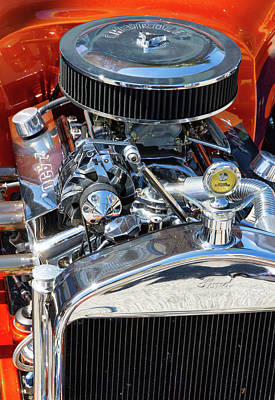 Photograph - Hot Rod Engine 2 by Arthur Dodd