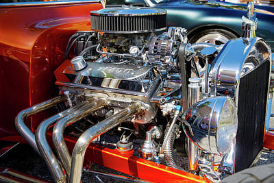 Photograph - Hot Rod Engine 3 by Arthur Dodd
