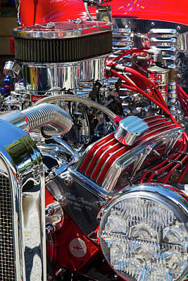 Photograph - Hot Rod Engine by Arthur Dodd