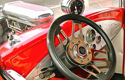 Photograph - Hot Rod G T Steering Wheel by Floyd Snyder