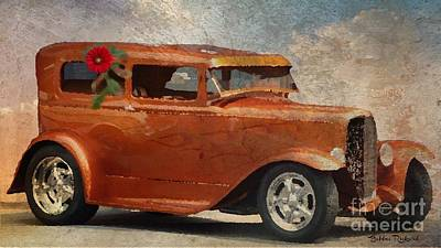 Photograph - Hot Rod In Oil  by Bobbee Rickard