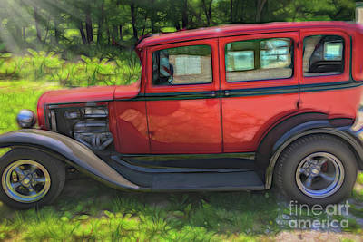 Photograph - Hot Rod  Old Cars by Peggy Franz