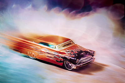 Hot Rod Racer Art Print by Scott Norris