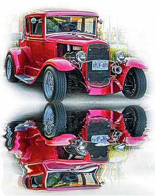 Street Rod Photograph - Hot Rod - Reflection by Steve Harrington