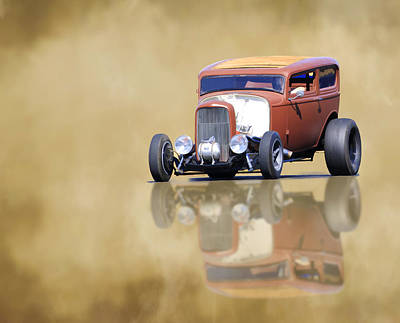 Photograph - Hot Rod Reflection by Steve McKinzie