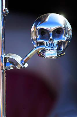 Hot Rod Skull Rear View Mirror Art Print