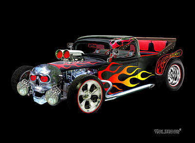 Digital Art - Hot Rod Terrifier by Glenn Holbrook