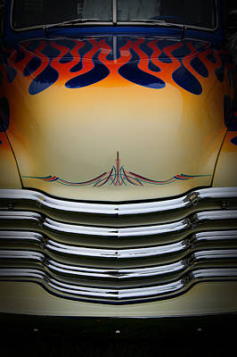 Photograph - Hot Rod Truck Hood by Dick Pratt