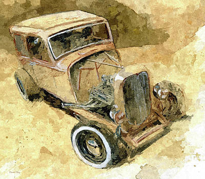 Digital Art - Hot Rod Tudor Dop by David King
