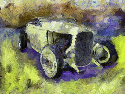 Drawing - Hot Rod Van Gogh by David King