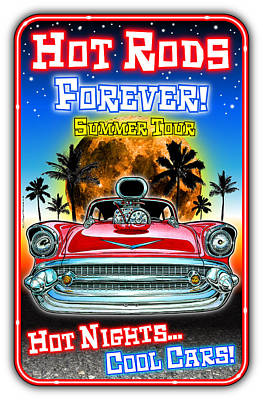Digital Art - Hot Rods Forever Summer Tour by K Scott Teeters