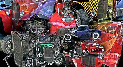 Photograph - Hot Rods Galore by Tom Griffithe