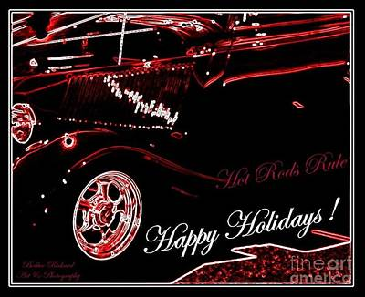 Photograph - Hot Rods Happy Holidays by Bobbee Rickard