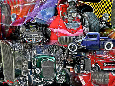 Photograph - Hot Rods by Tom Griffithe