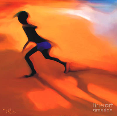 Haitian Painting - Hot Sands by Bob Salo