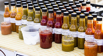 Photograph - Hot Sauces - Madison Farmers Market by Steven Ralser
