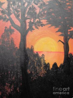 Art Print featuring the painting Hot by Saundra Johnson