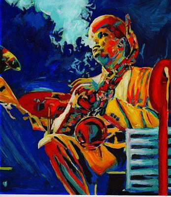 Swing Painting - Hot Sax by Vel Verrept