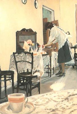Hot Scones For Tea Art Print by Linda Crockett