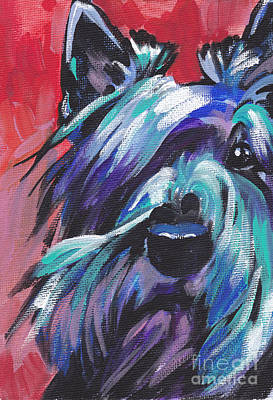 Scottish Dog Painting - Hot Scot by Lea S
