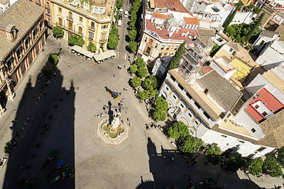 Photograph - Hot Seville Spain - Plaza Virgen De Los Reyes From La Giralda by Georgia Mizuleva