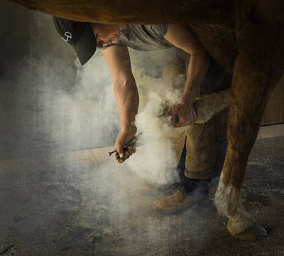 Photograph - Hot Shoeing by Inge Riis McDonald