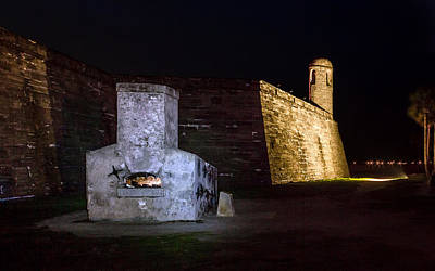 Photograph - Hot Shot Furnace Of Castillo De San Marcos by Rob Sellers
