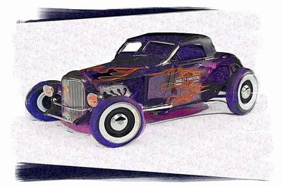 Hot Rod Mixed Media - Hot Shot by Gra Howard
