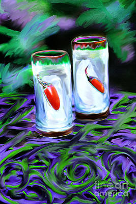 Digital Art - Hot Shots by Lisa Redfern