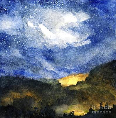 Painting - Hot Spots In Our Mountains Tonight by Randy Sprout